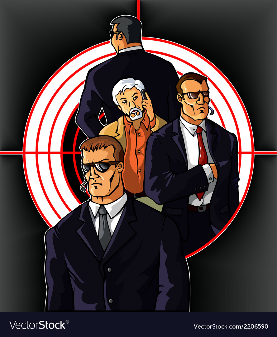 Bodyguards vector | Price: 3 Credit (USD $3)