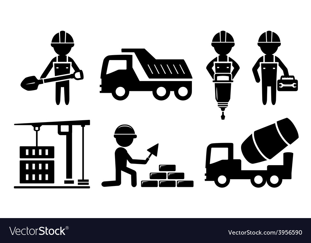 Building industrial icon for construction industry vector | Price: 1 Credit (USD $1)