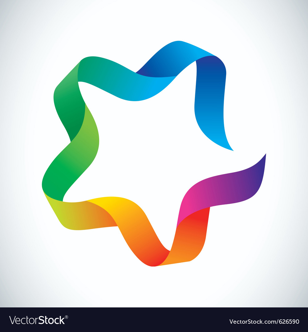 Colorful ribbon vector | Price: 1 Credit (USD $1)