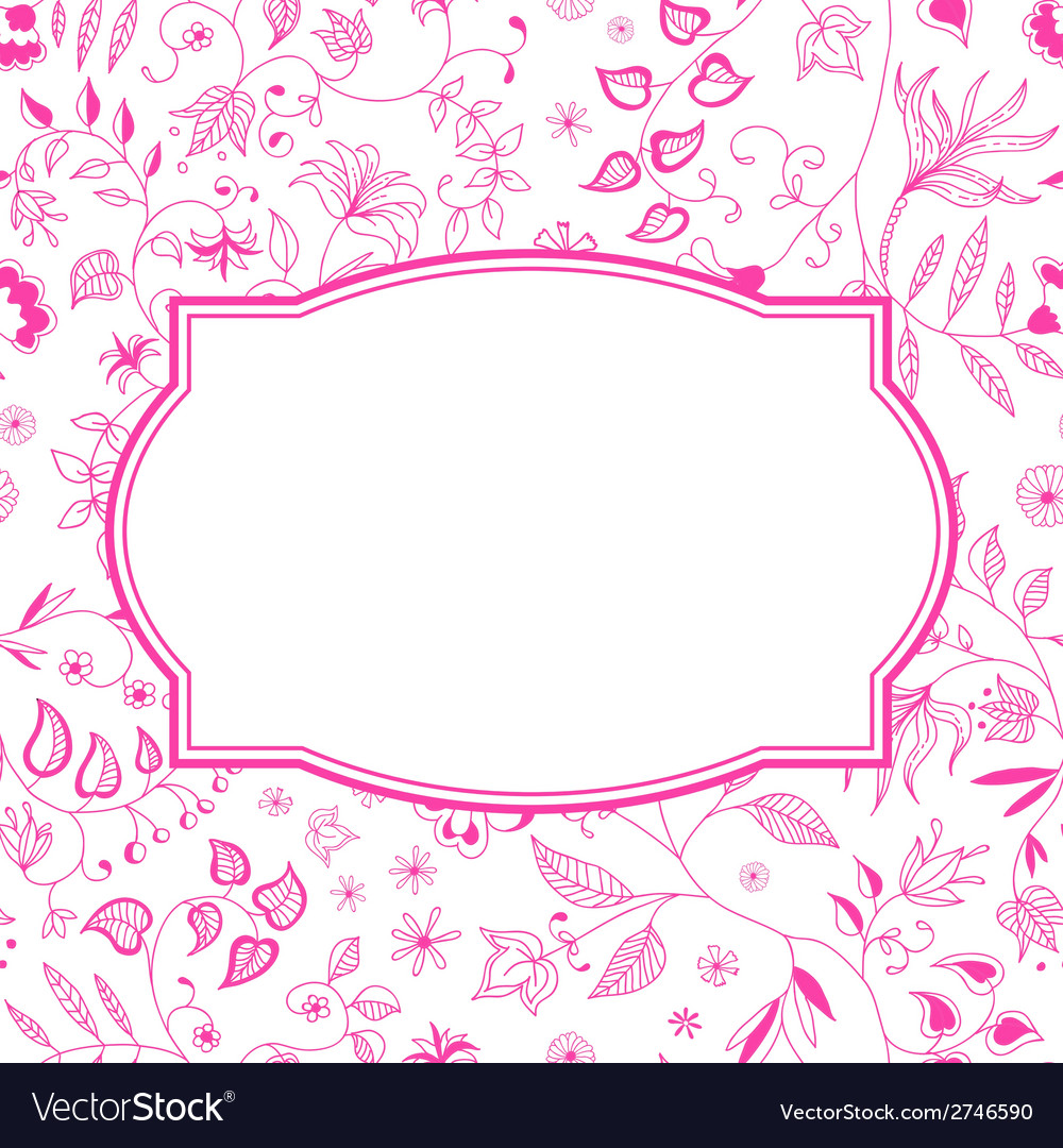 Floral pattern pink background vector | Price: 1 Credit (USD $1)