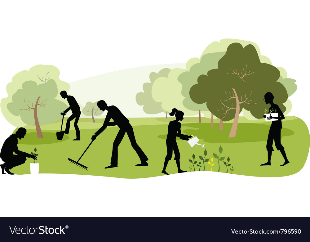 Gardening vector | Price: 3 Credit (USD $3)