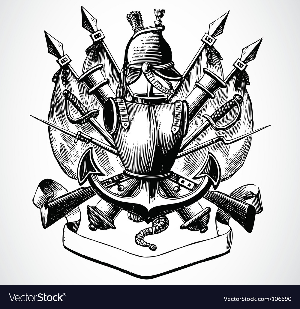 Knight shield of arms vector | Price: 1 Credit (USD $1)