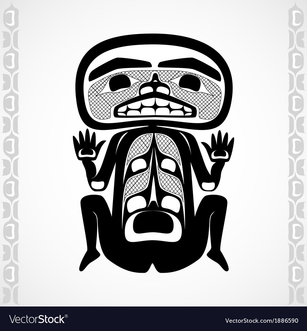 Modern stylization of canadian native art a man vector | Price: 1 Credit (USD $1)
