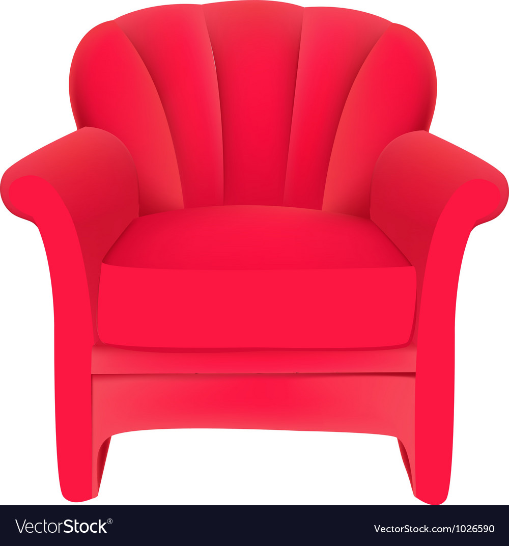 Red velvet chair vector | Price: 1 Credit (USD $1)