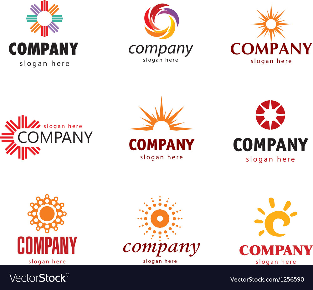 Solar logo vector | Price: 1 Credit (USD $1)