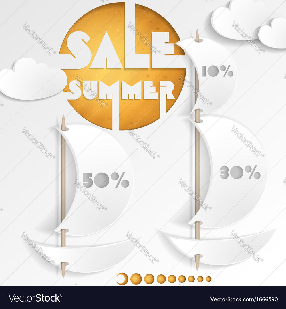 Summer sale business background vector | Price: 1 Credit (USD $1)