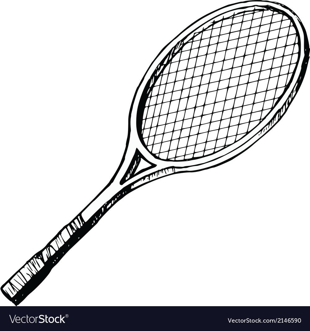 Tennis bat vector | Price: 1 Credit (USD $1)