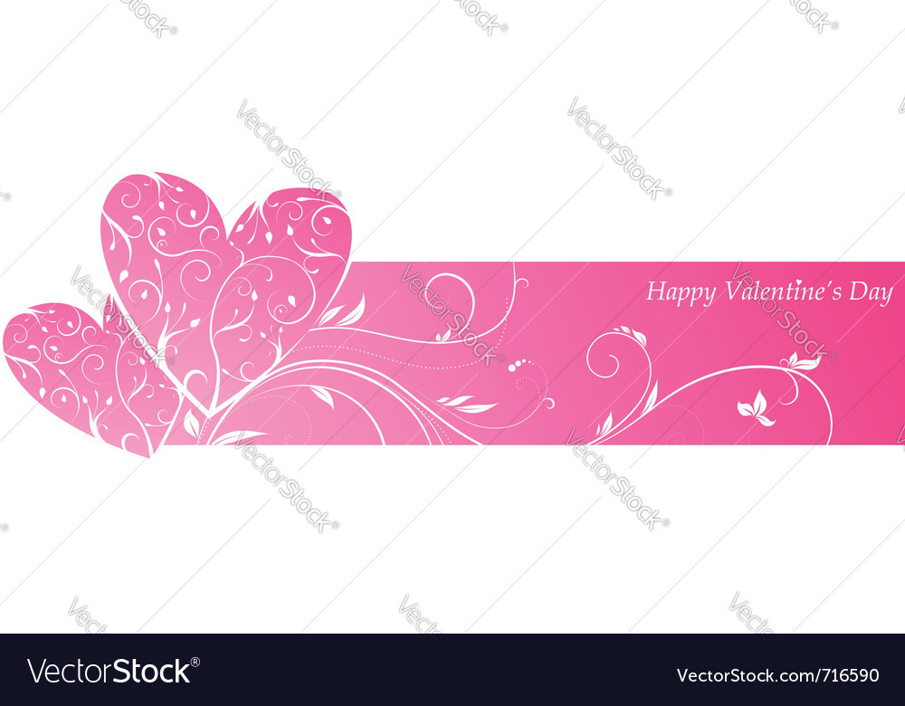 Valentines banner vector | Price: 1 Credit (USD $1)