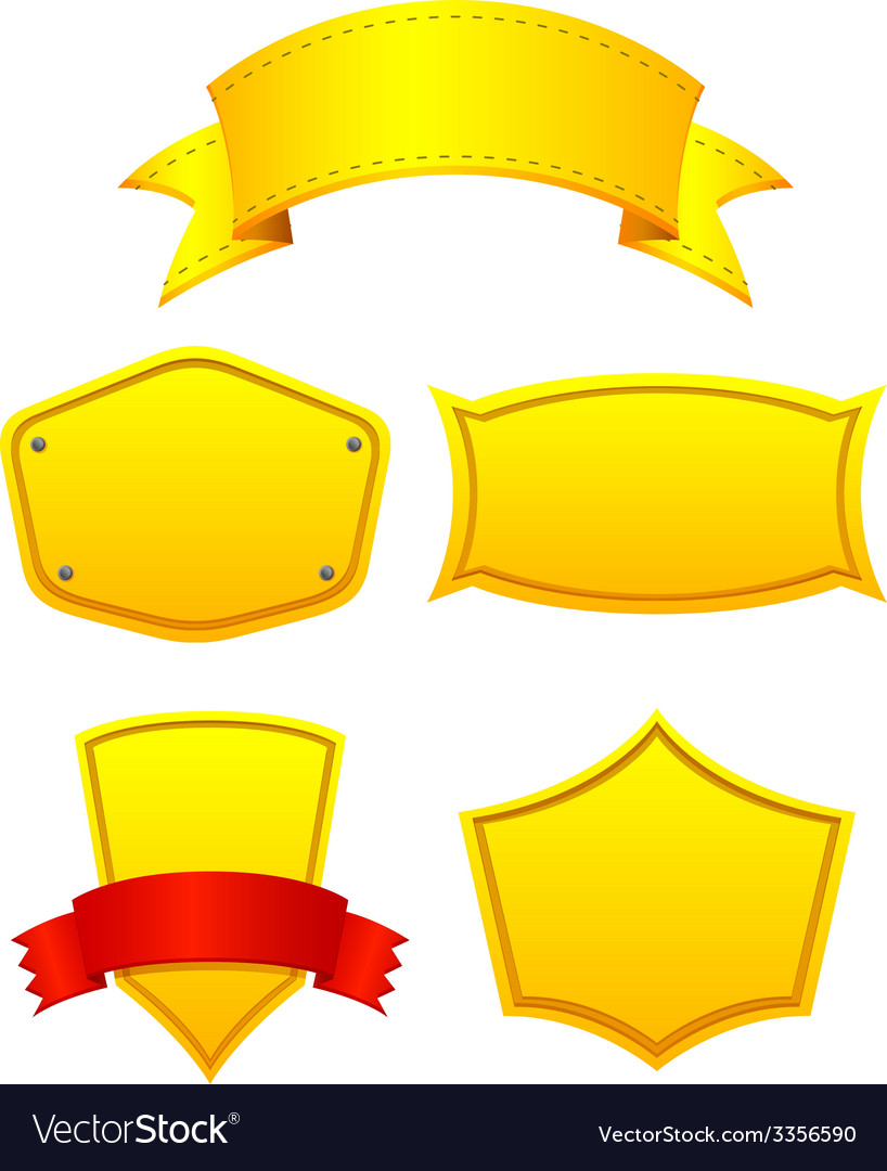 Yellow labels vector | Price: 1 Credit (USD $1)