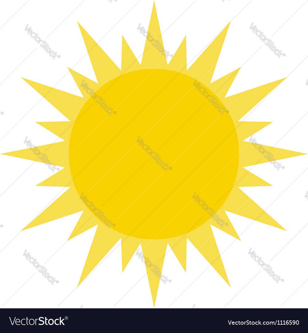 Yellow summer sun shining vector