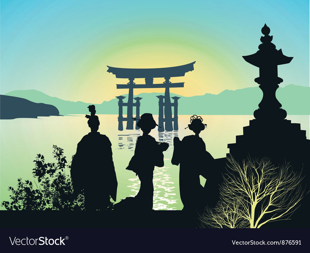 Attractions of japan vector | Price: 1 Credit (USD $1)
