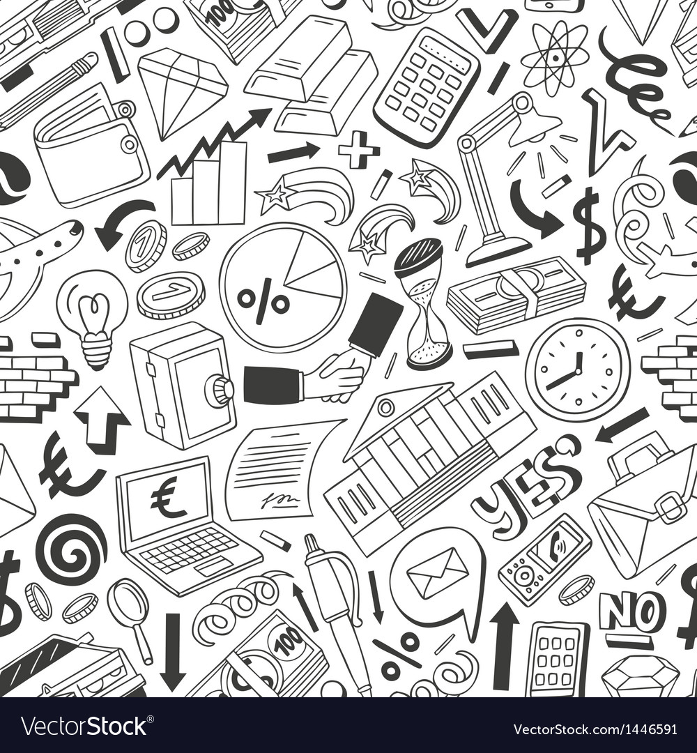Business seamless background vector | Price: 1 Credit (USD $1)