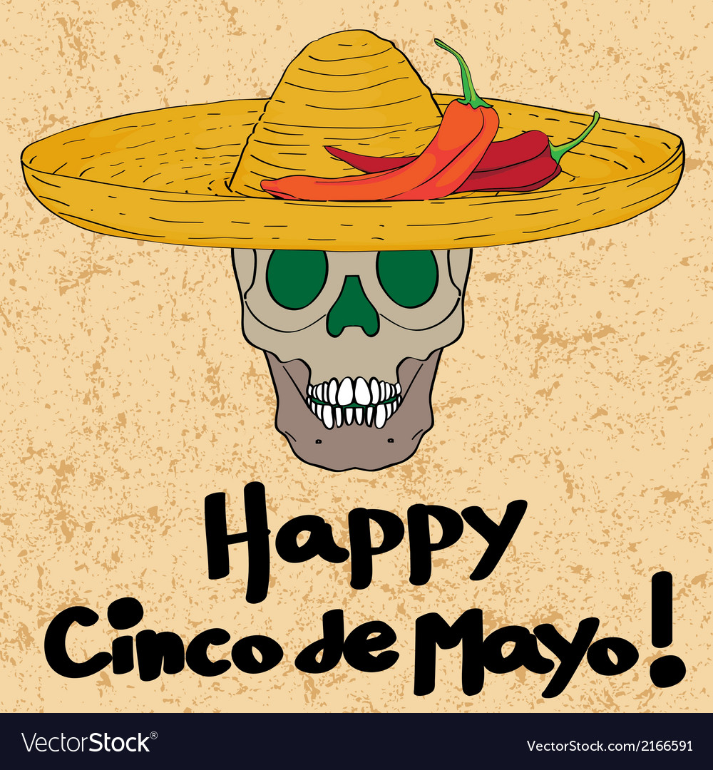 Cinco de mayo skull vector | Price: 1 Credit (USD $1)