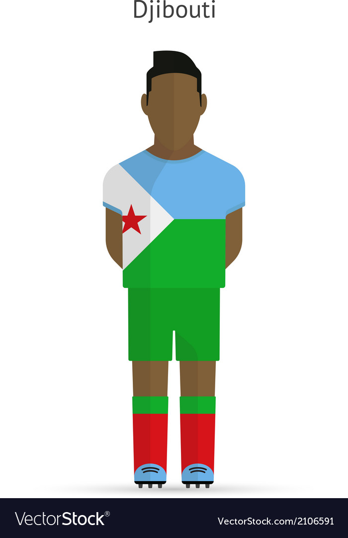 Djibouti football player soccer uniform vector | Price: 1 Credit (USD $1)