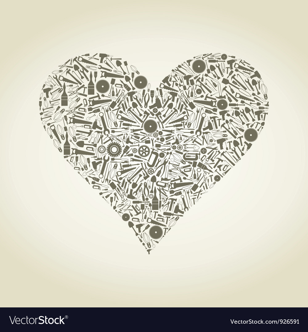 Heart the tool vector | Price: 1 Credit (USD $1)