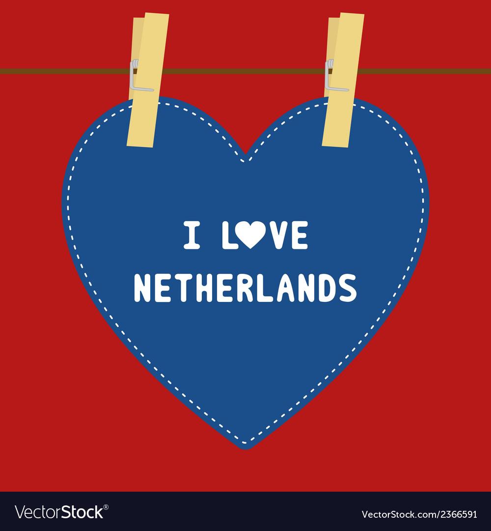 I love netherlands5 vector | Price: 1 Credit (USD $1)