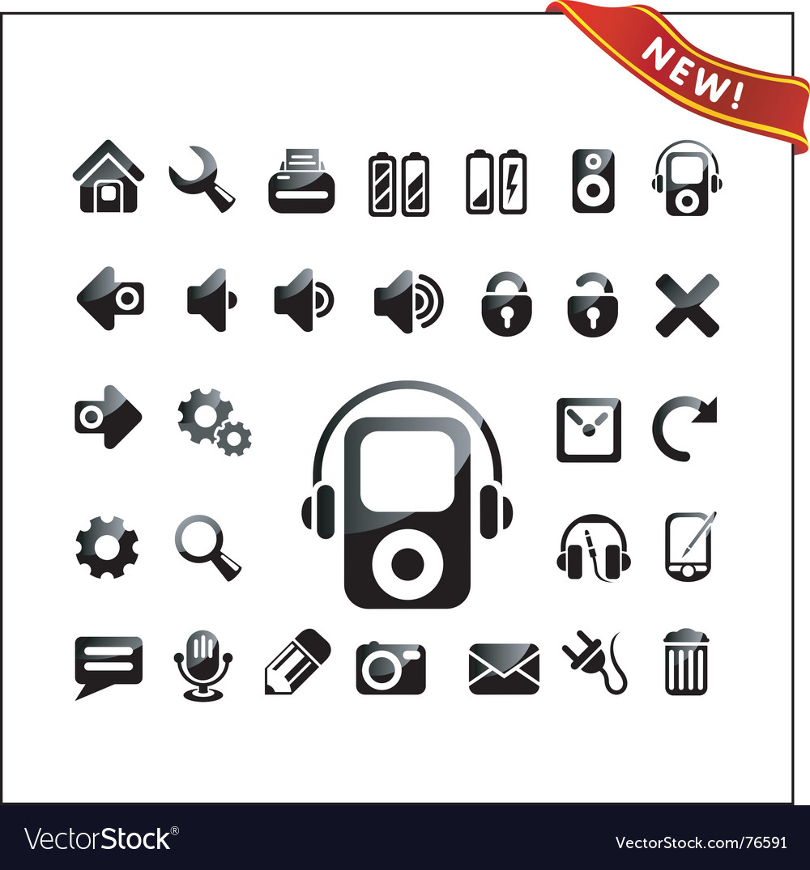 Icon icons vector | Price: 1 Credit (USD $1)