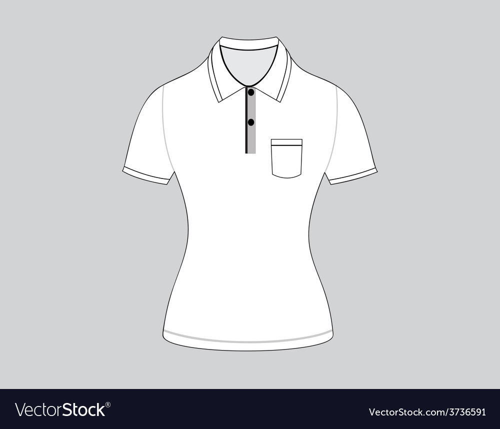 Polo shirt outline on white background5 01 vector   Price: 1 Credit (USD $1)