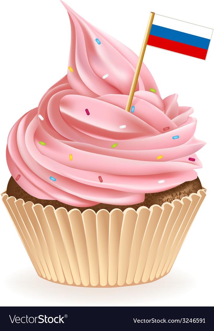 Russian cupcake vector | Price: 1 Credit (USD $1)