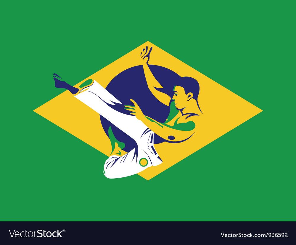 Capoeira fighter vector | Price: 3 Credit (USD $3)