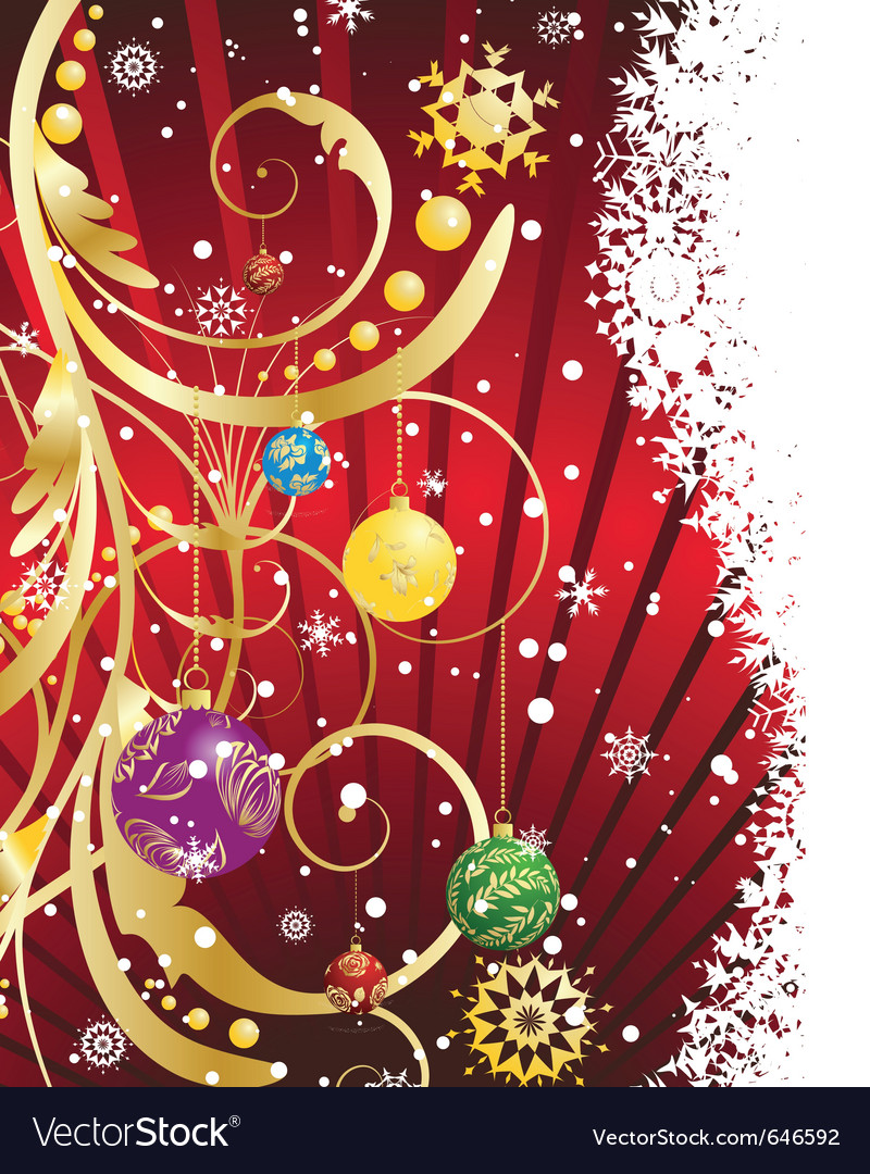 Christmas new year card for design use vector | Price: 1 Credit (USD $1)