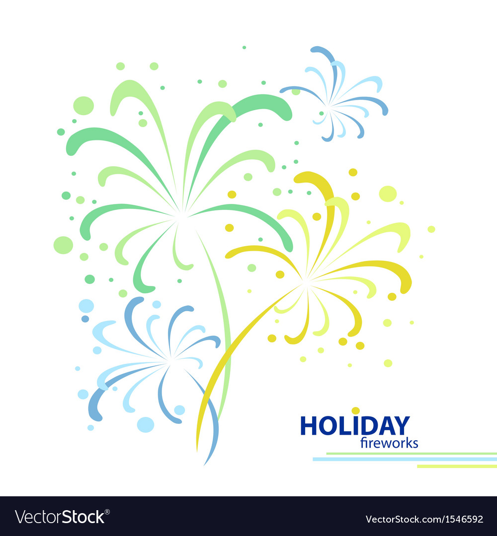 Holiday firework vector | Price: 1 Credit (USD $1)