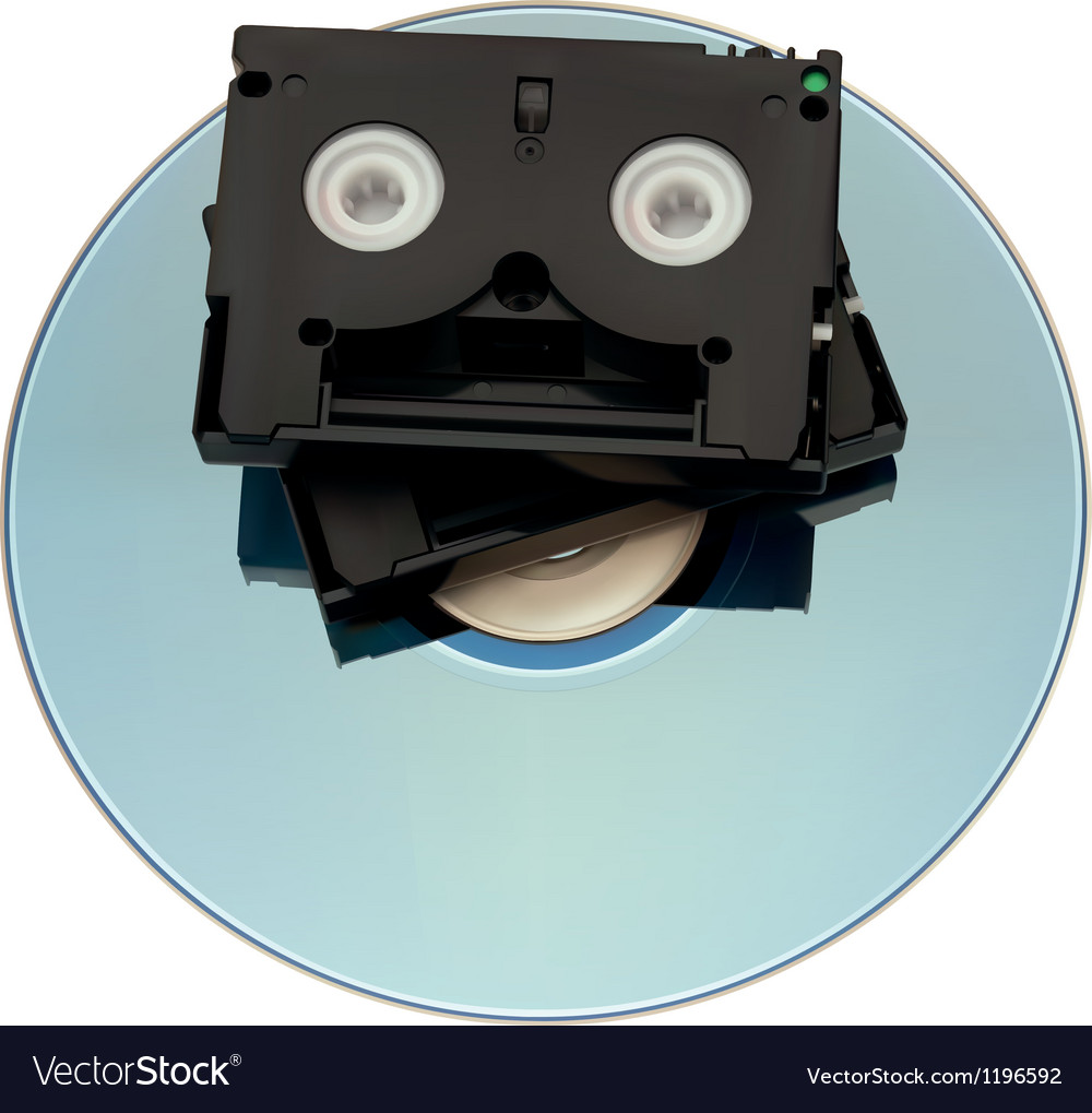 Minidv tape over dvd vector | Price: 1 Credit (USD $1)
