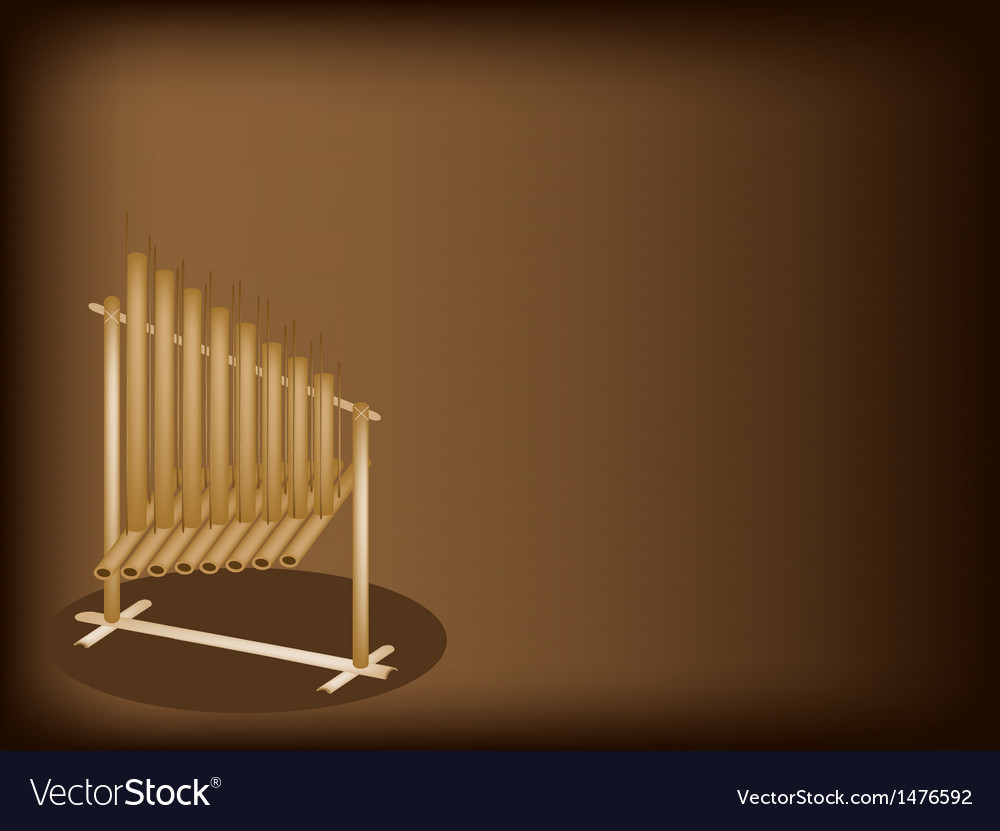 Musical angklung brown background vector   Price: 1 Credit (USD $1)