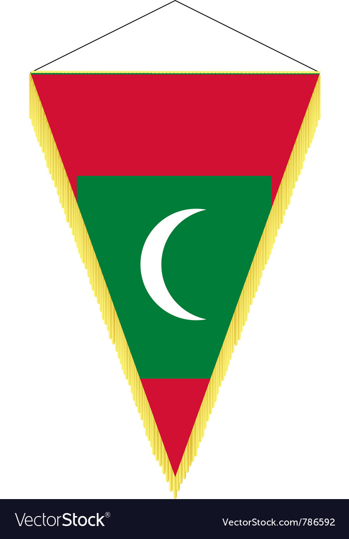 National flag of maldives vector | Price: 1 Credit (USD $1)