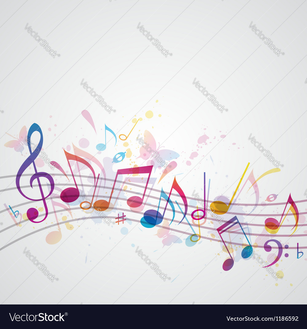 Note music abstract vector | Price: 1 Credit (USD $1)
