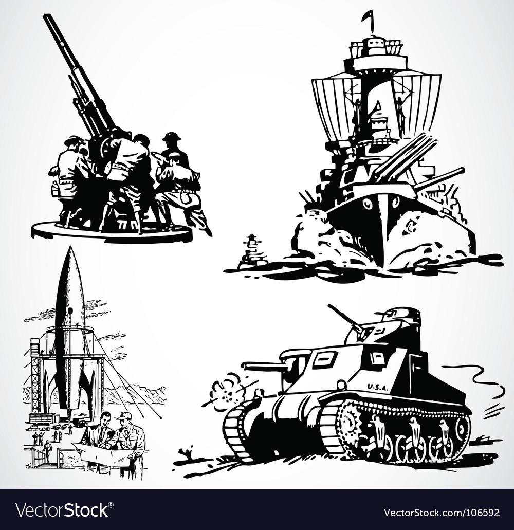 Retro military graphics vector | Price: 1 Credit (USD $1)