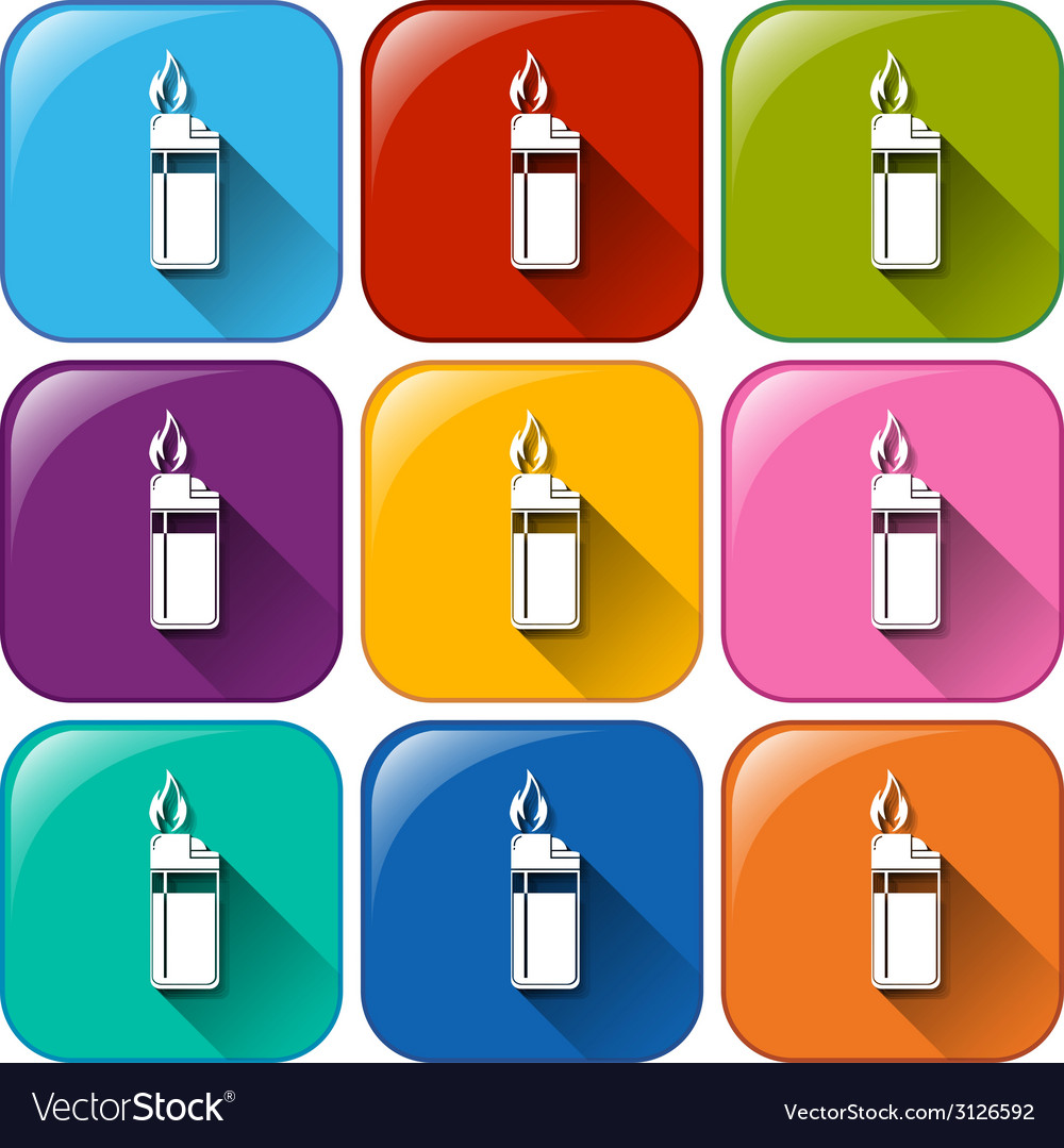 Rounded icon with lighters vector | Price: 1 Credit (USD $1)