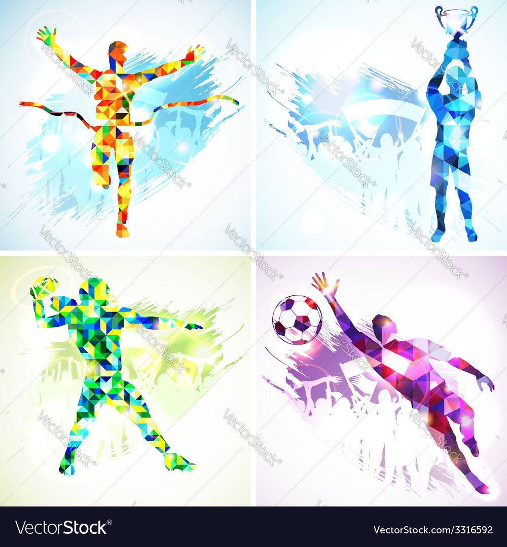 Set sport silhouettes vector | Price: 1 Credit (USD $1)