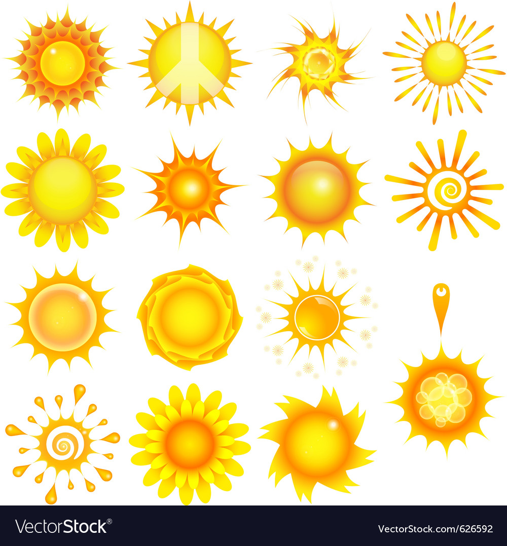 Suns collection vector | Price: 1 Credit (USD $1)