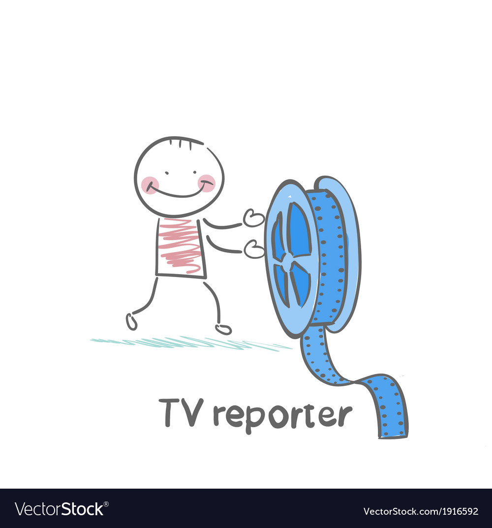 Tv reporter keeps the film vector | Price: 1 Credit (USD $1)
