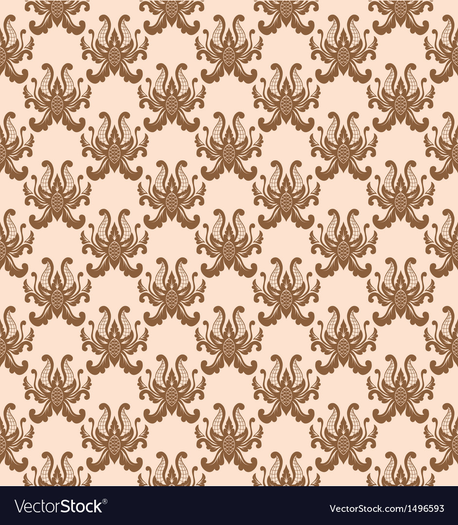 Balinese flower pattern vector | Price: 1 Credit (USD $1)