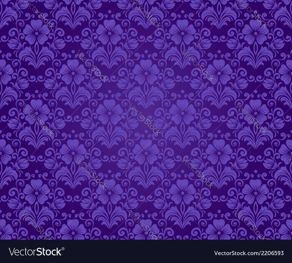 Damask vintage seamless pattern vector | Price: 1 Credit (USD $1)