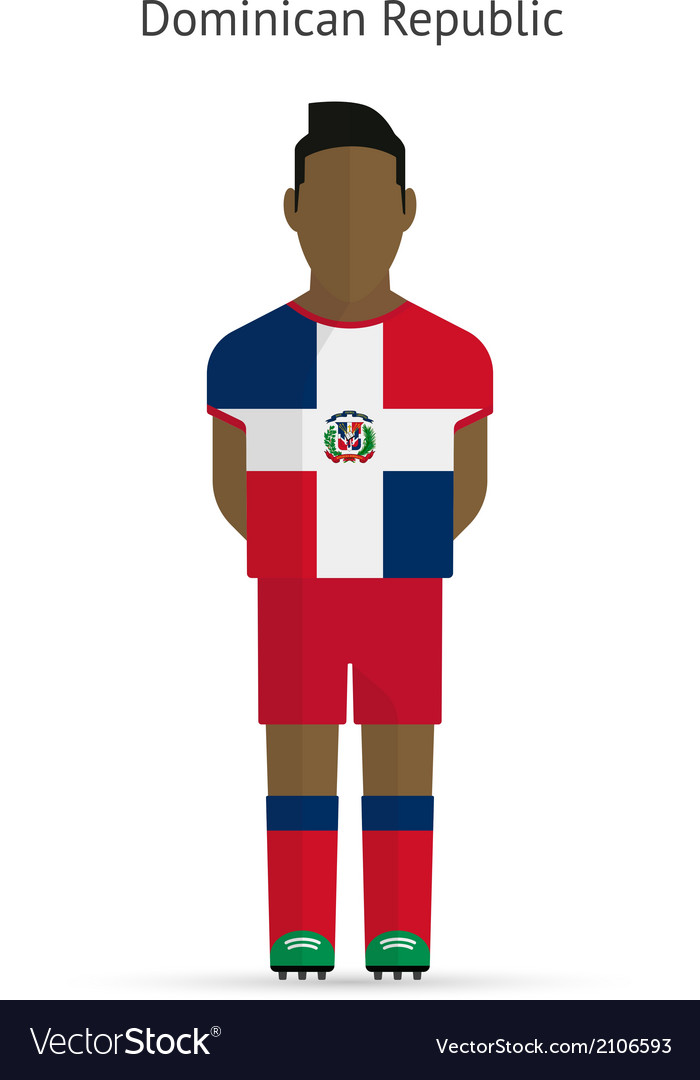 Dominican republic football player soccer uniform vector | Price: 1 Credit (USD $1)