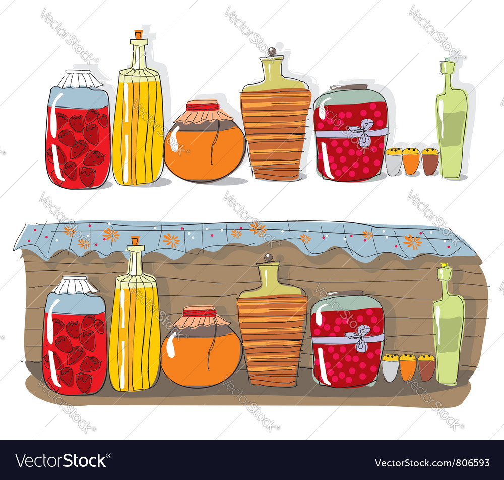 Homemade jam and spices vector | Price: 3 Credit (USD $3)