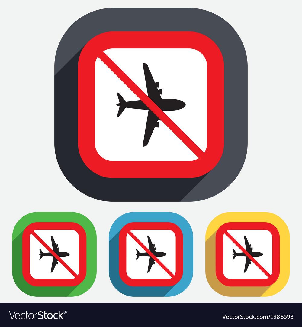 No airplane sign plane symbol travel icon vector | Price: 1 Credit (USD $1)