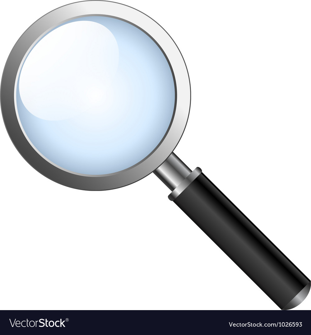 Realistic magnifying glas vector | Price: 1 Credit (USD $1)