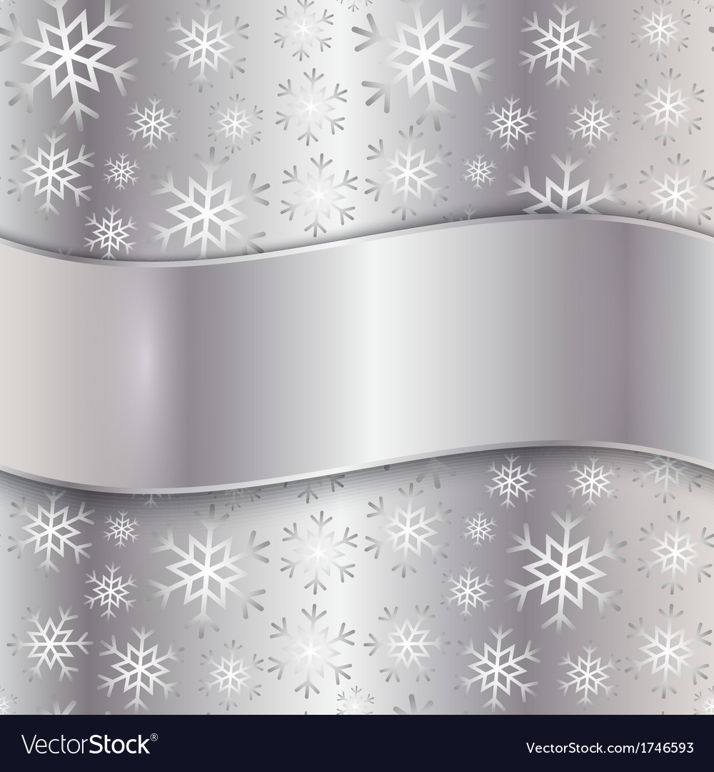 Silver plate with snowflakes vector | Price: 1 Credit (USD $1)