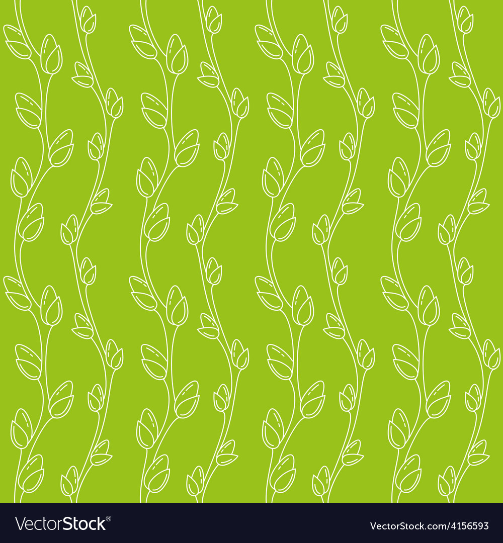 Spring willow pattern vector | Price: 1 Credit (USD $1)