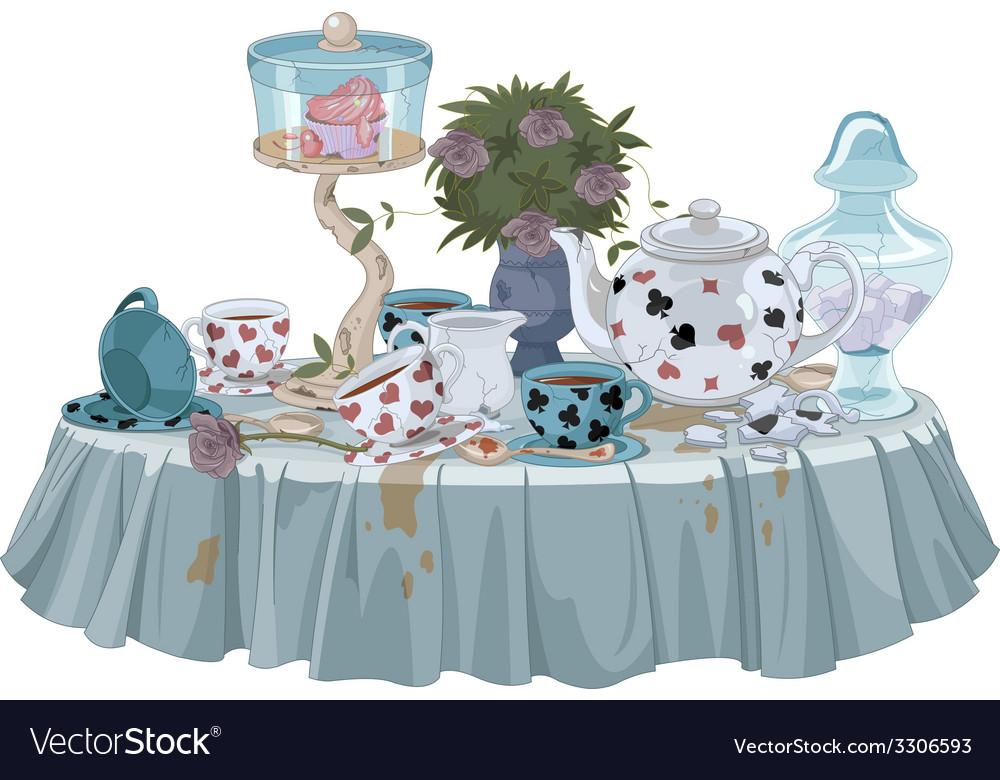 Tea party vector | Price: 5 Credit (USD $5)