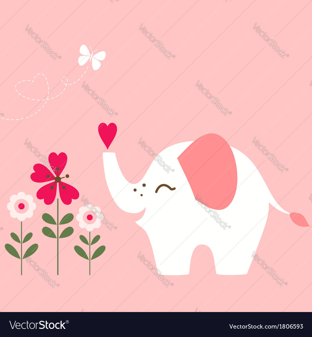 Valentine elephant vector | Price: 1 Credit (USD $1)
