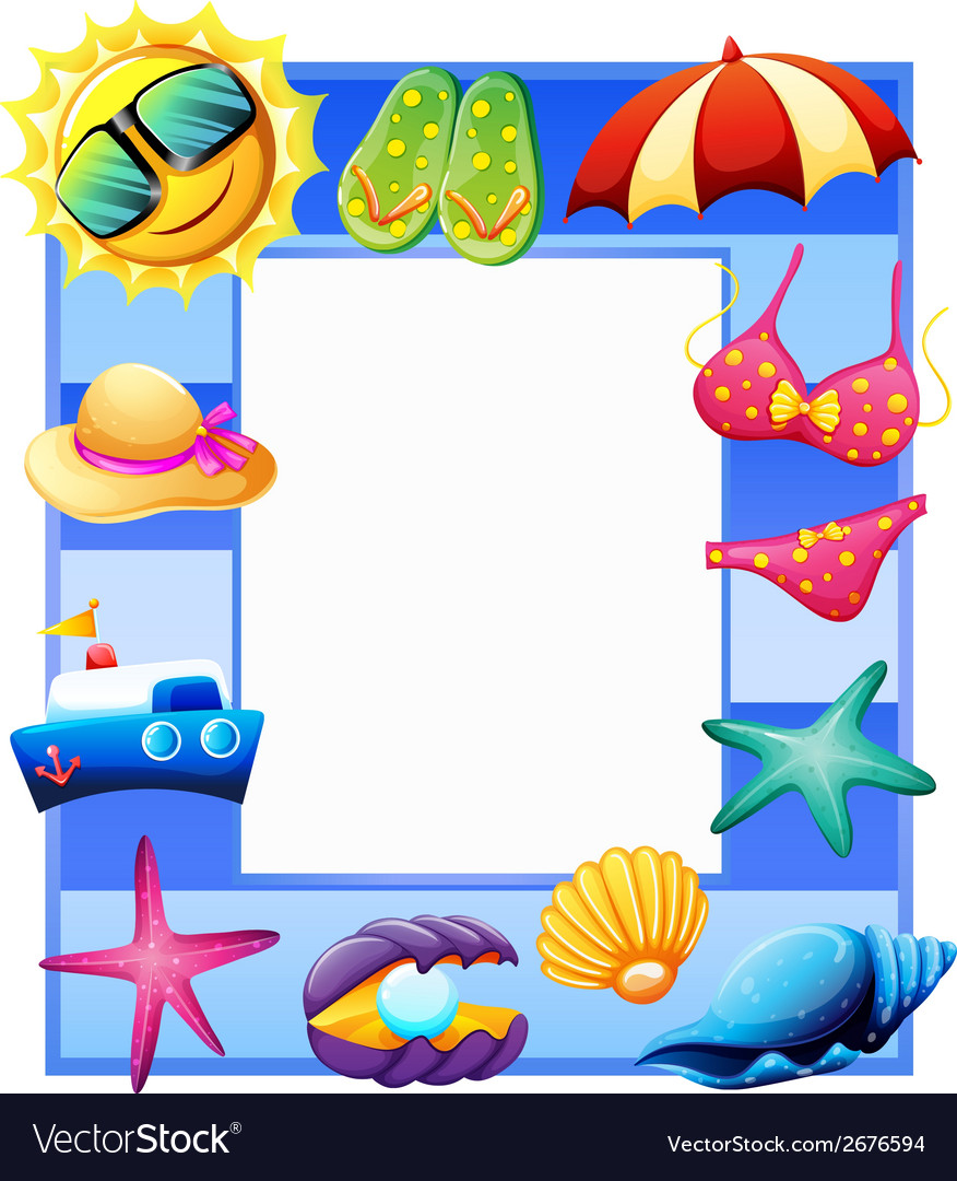 A frame for summer vector   Price: 1 Credit (USD $1)