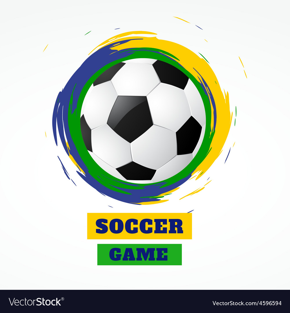 Abstract grunge style football vector | Price: 1 Credit (USD $1)