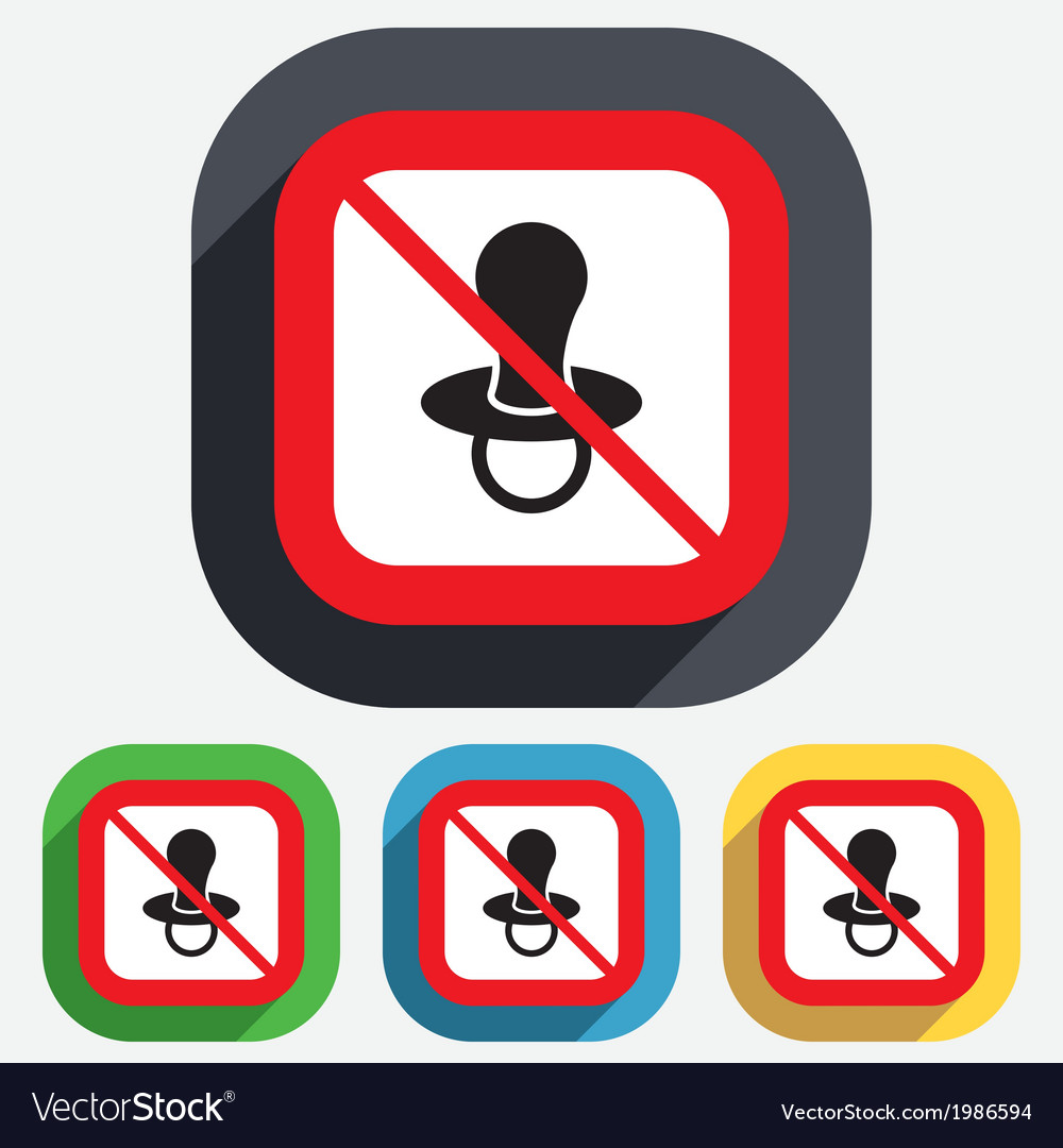Babys dummy sign icon no child pacifier symbol vector | Price: 1 Credit (USD $1)