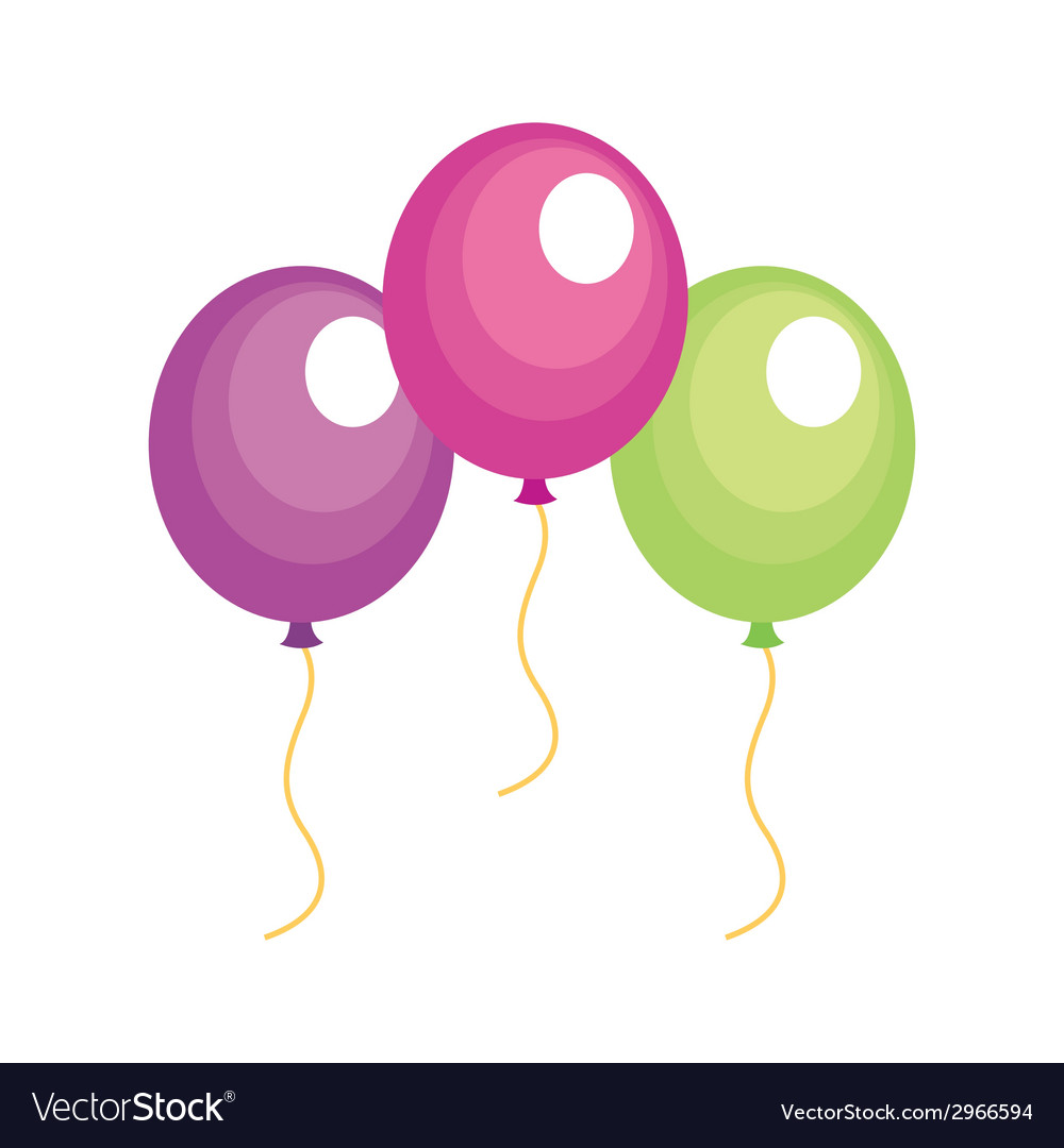 Balloons design vector | Price: 1 Credit (USD $1)