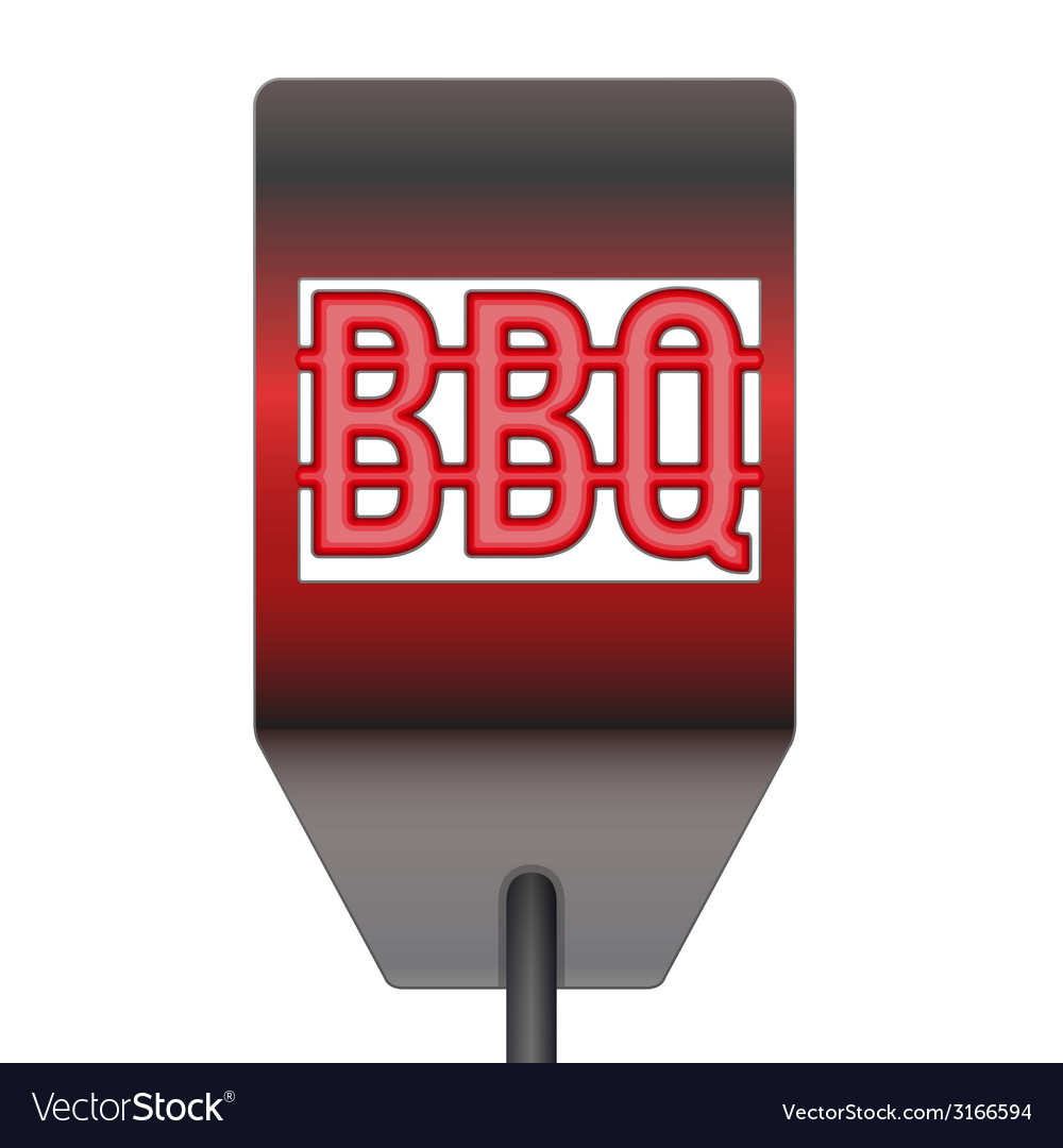 Barbecue hot metal spatula isolated on white vector | Price: 1 Credit (USD $1)